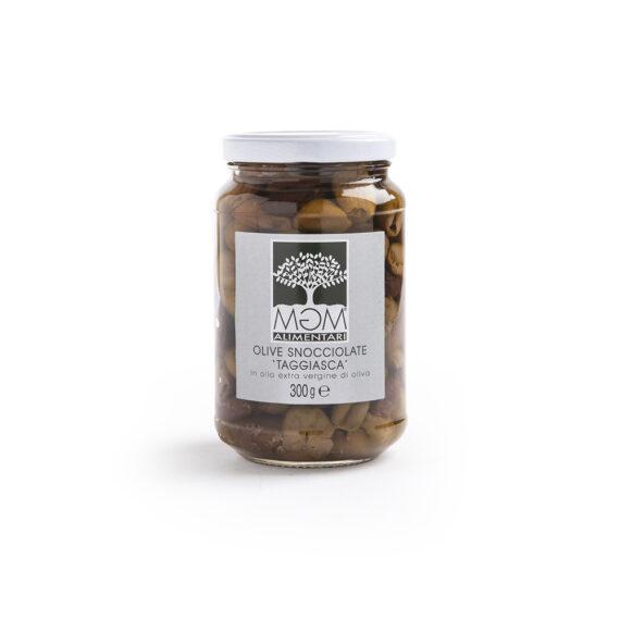Olive taggiasche denocciolate in olio extra vergine d'oliva