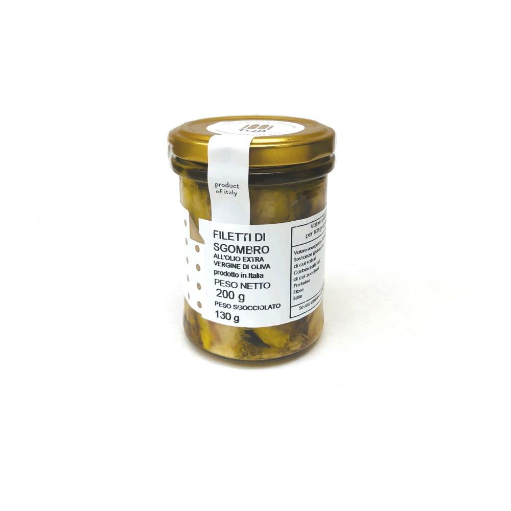 FIletti di sgombro siciliano in olio E.V.O 200g