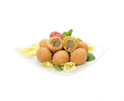 Olive panate ripiene vegetali